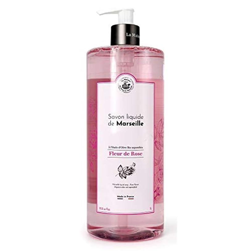 現実透けるくしゃみノルコーポレーション マルセイユ石鹸 リキッドタイプ フランス製 MLL-2-1 ボディソープ ローズの香り 1000ml