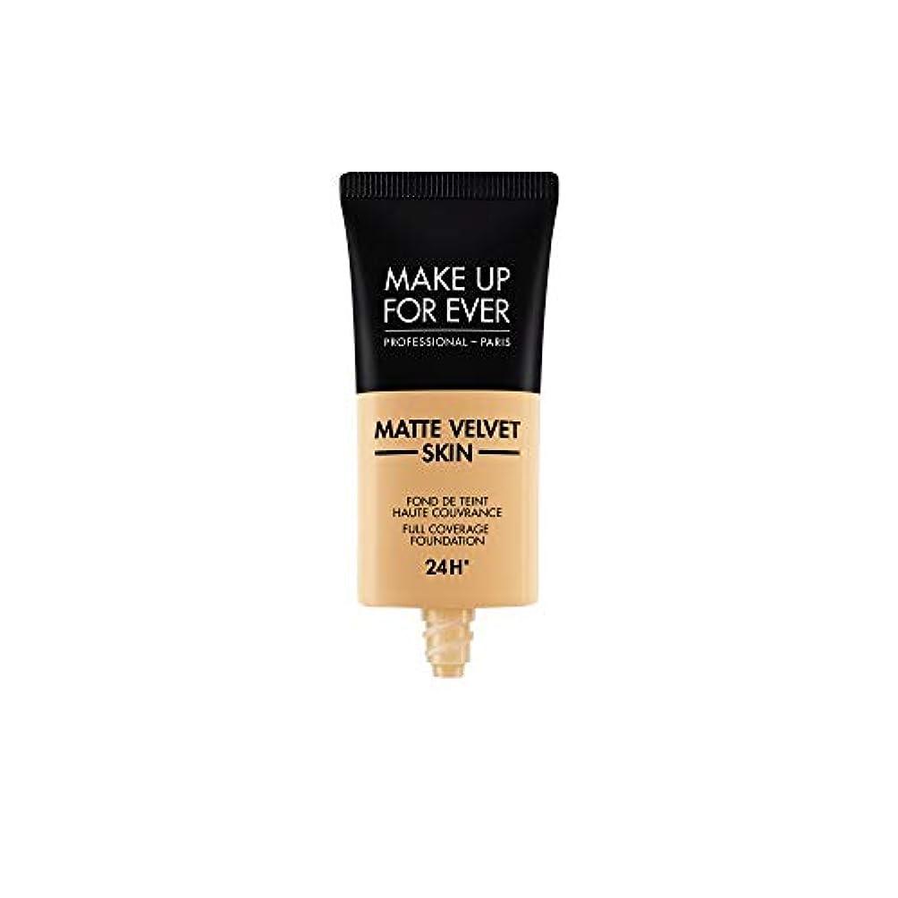 ポーチ傾斜狂人メイクアップフォーエバー Matte Velvet Skin Full Coverage Foundation - # Y345 (Natural Beige) 30ml/1oz並行輸入品
