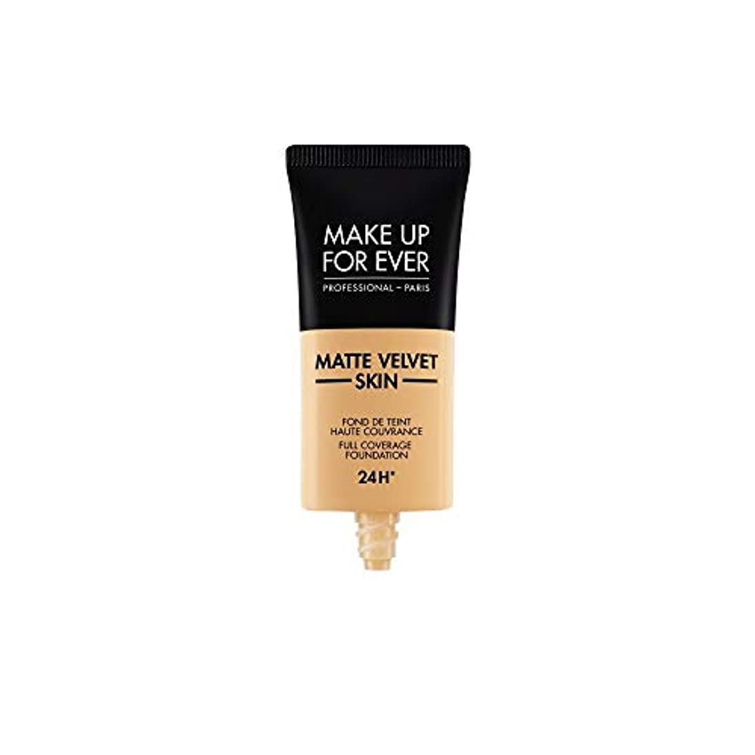 合意キャンドル肌寒いメイクアップフォーエバー Matte Velvet Skin Full Coverage Foundation - # Y345 (Natural Beige) 30ml/1oz並行輸入品