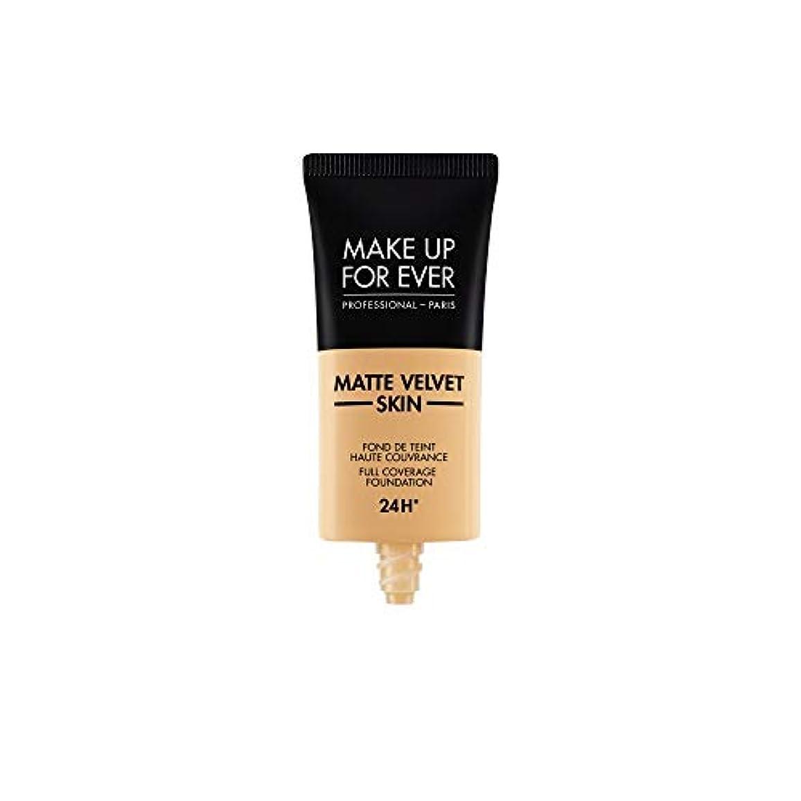 アロング見習いはいメイクアップフォーエバー Matte Velvet Skin Full Coverage Foundation - # Y345 (Natural Beige) 30ml/1oz並行輸入品