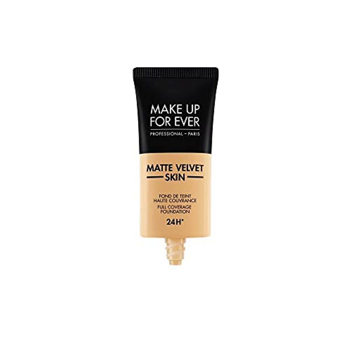 仕立て屋期限切れ兵器庫メイクアップフォーエバー Matte Velvet Skin Full Coverage Foundation - # Y345 (Natural Beige) 30ml/1oz並行輸入品