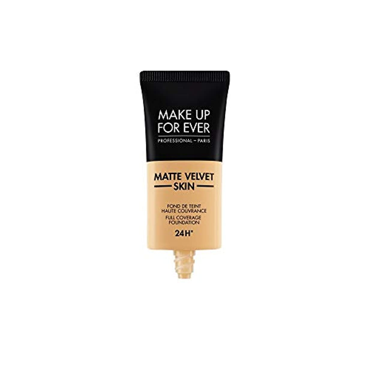 貪欲映画郵便屋さんメイクアップフォーエバー Matte Velvet Skin Full Coverage Foundation - # Y345 (Natural Beige) 30ml/1oz並行輸入品