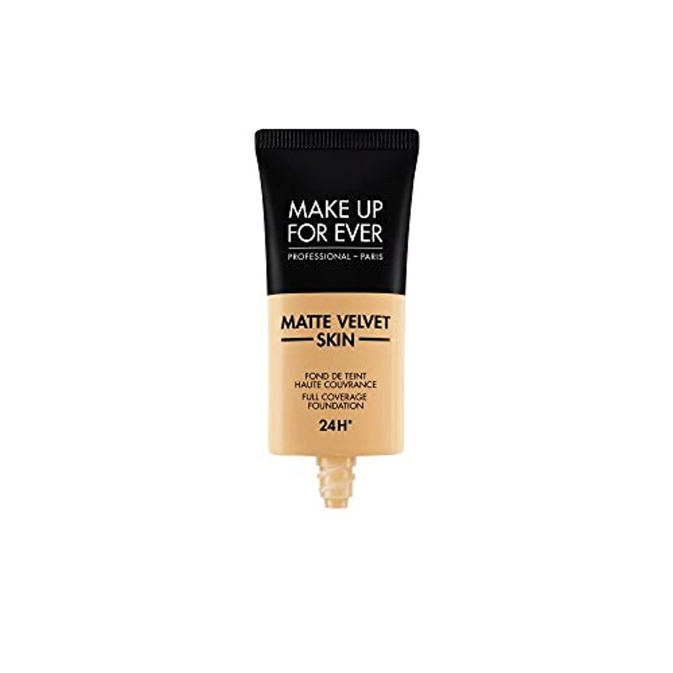 書き込み連帯リーズメイクアップフォーエバー Matte Velvet Skin Full Coverage Foundation - # Y345 (Natural Beige) 30ml/1oz並行輸入品