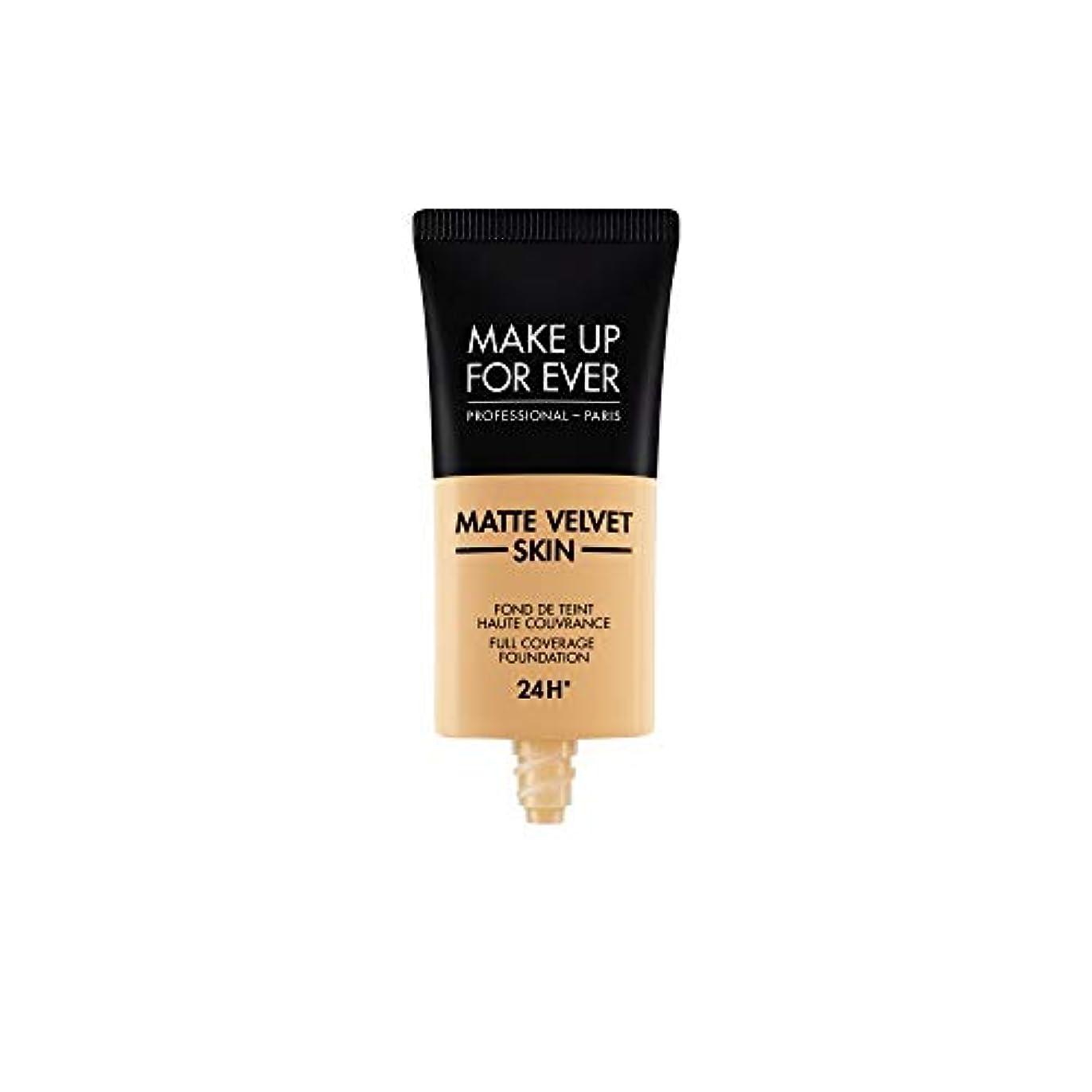 割り当て着実に前件メイクアップフォーエバー Matte Velvet Skin Full Coverage Foundation - # Y345 (Natural Beige) 30ml/1oz並行輸入品