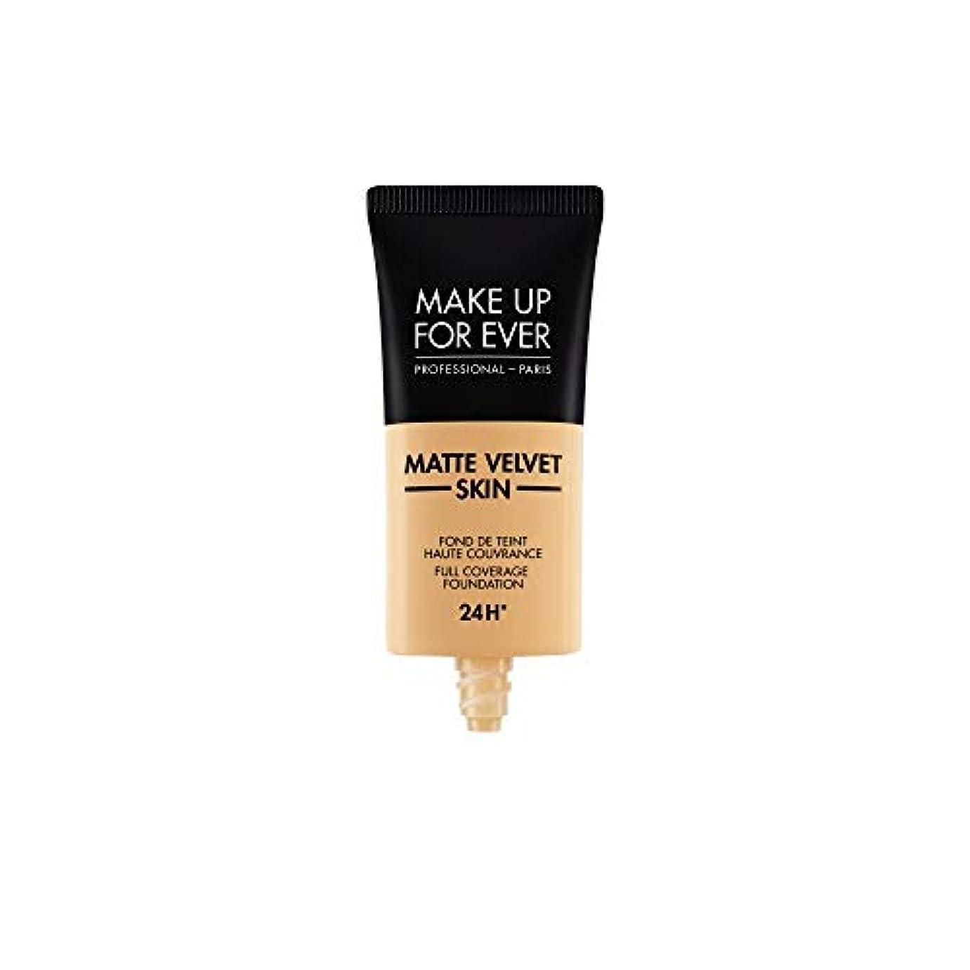 首謀者増強大メイクアップフォーエバー Matte Velvet Skin Full Coverage Foundation - # Y345 (Natural Beige) 30ml/1oz並行輸入品