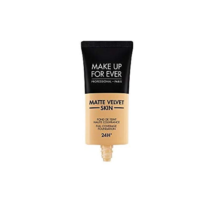 それぞれ折詩人メイクアップフォーエバー Matte Velvet Skin Full Coverage Foundation - # Y345 (Natural Beige) 30ml/1oz並行輸入品