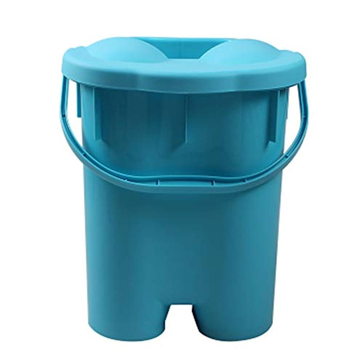 予定飢より良い家庭用シンプルな発泡盆たたみ足湯発泡バケツバレル深いバレルポータブル厚いプラスチックフォーム盆地