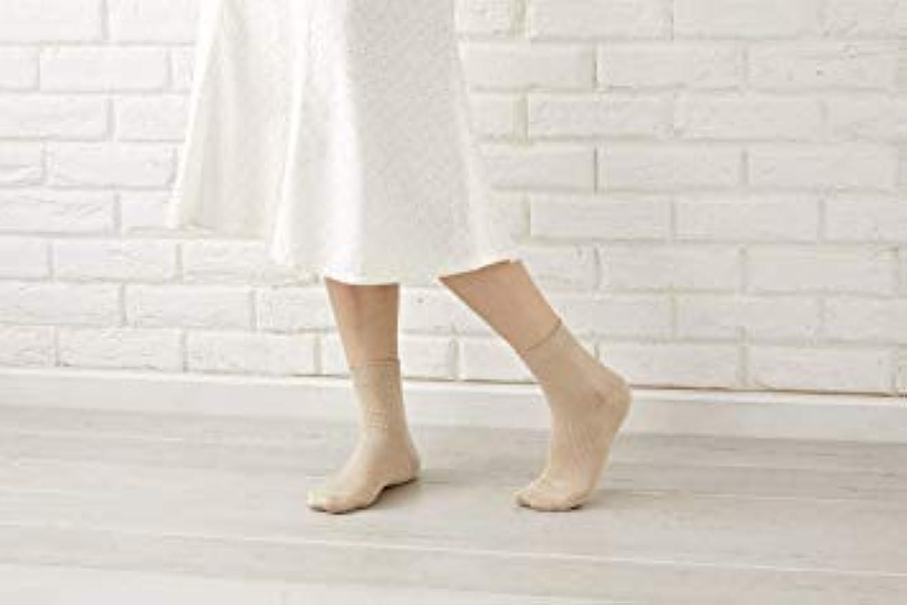 マリナー剛性持っている婦人用 最高級 シルク100% 使用 定番 靴下 リブ 22-24cm 太陽ニット 512 (ピンク)