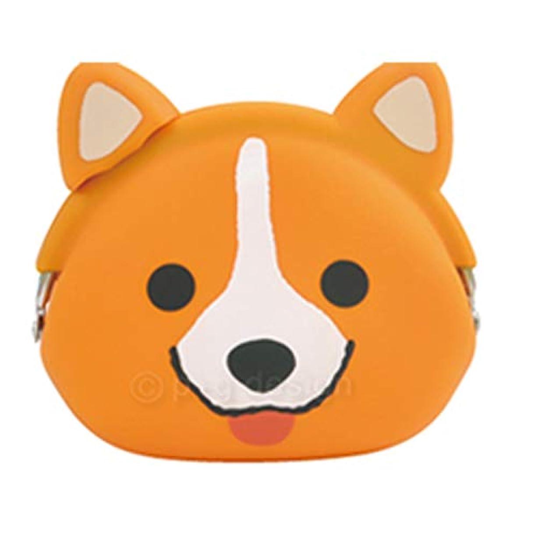 報復する叱る結果mimi POCHI Friends ミミ ポチ フレンズ‐シリコン製 がまぐち 財布 コインケース アクセサリーポーチ ピージーデザイン どうぶつ さいふ (コーギー)