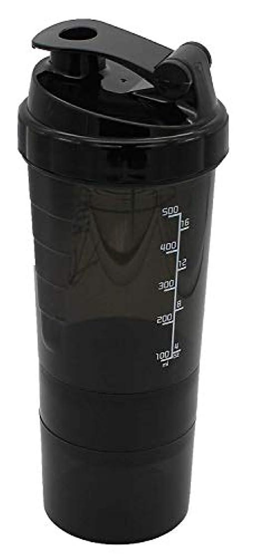 複製する政治的アトラスAomgsd プロテインシェイカー 600ml シェーカーボトル フィットネス用 プラスチック 目盛り ジム ダイエット スポーツ