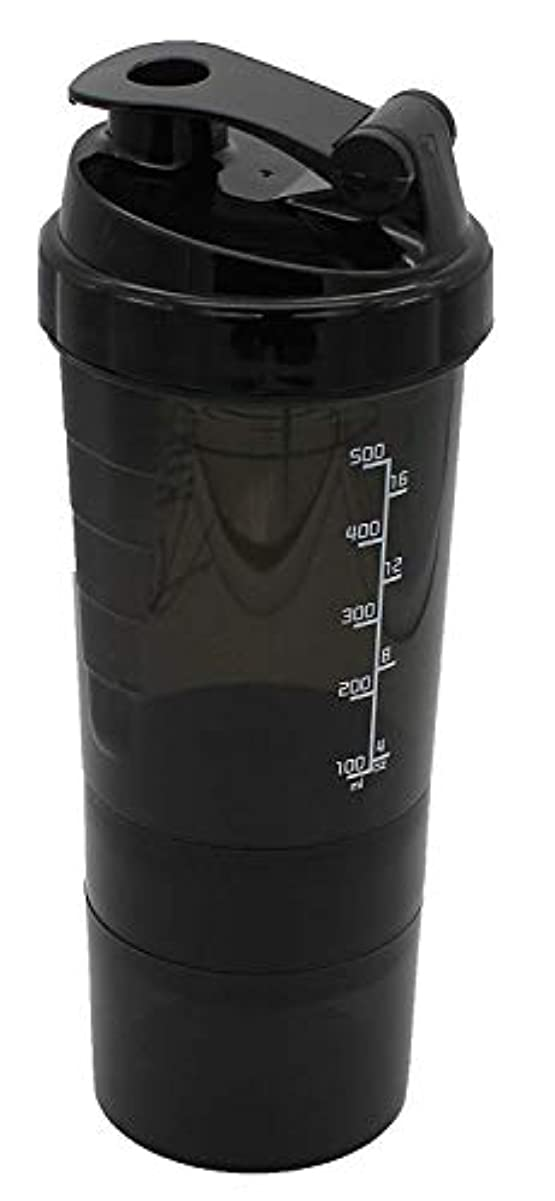 食器棚にもかかわらず指標Aomgsd プロテインシェイカー 600ml シェーカーボトル フィットネス用 プラスチック 目盛り ジム ダイエット スポーツ