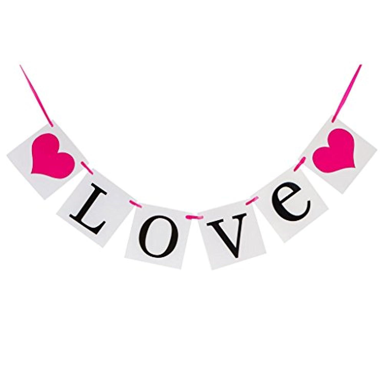 KOZEEYバナー ガーランド パーティー 小物 ウエディング グッズ アイテム 壁飾り 誕生日 LOVE