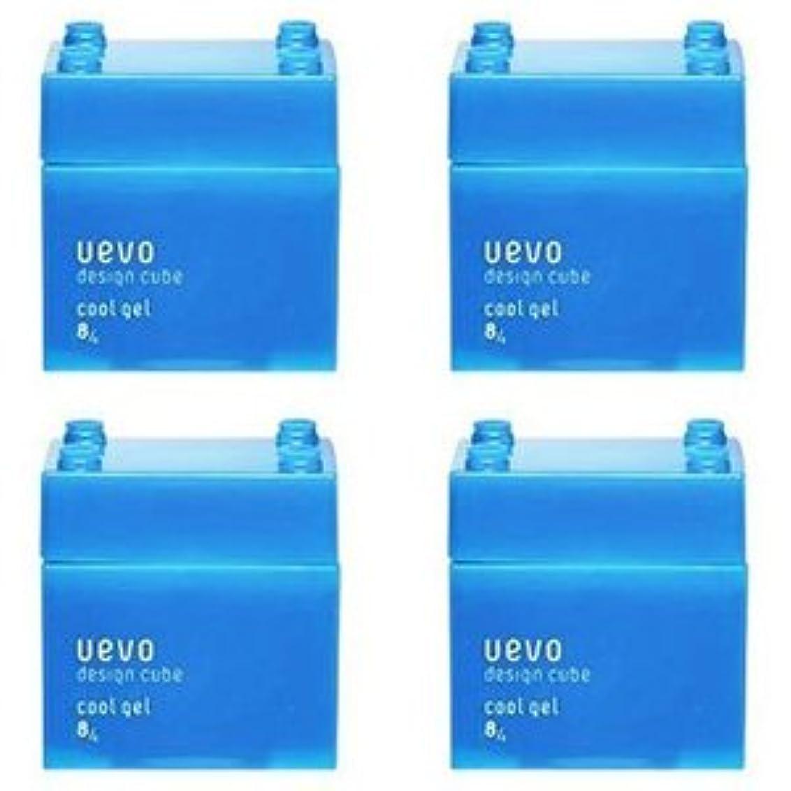 細胞めまい推定【X4個セット】 デミ ウェーボ デザインキューブ クールジェル 80g cool gel DEMI uevo design cube