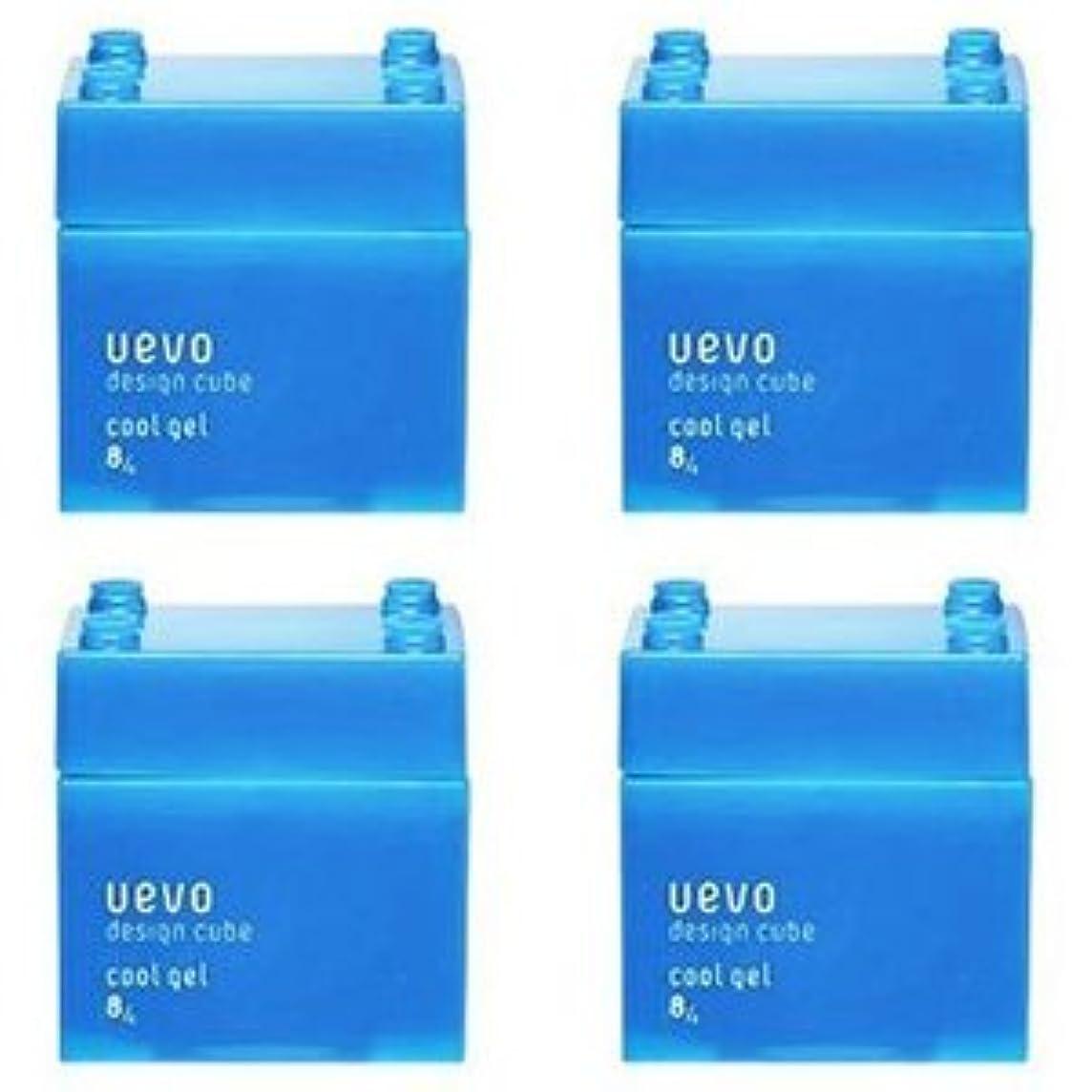 幾分問い合わせピルファー【X4個セット】 デミ ウェーボ デザインキューブ クールジェル 80g cool gel DEMI uevo design cube