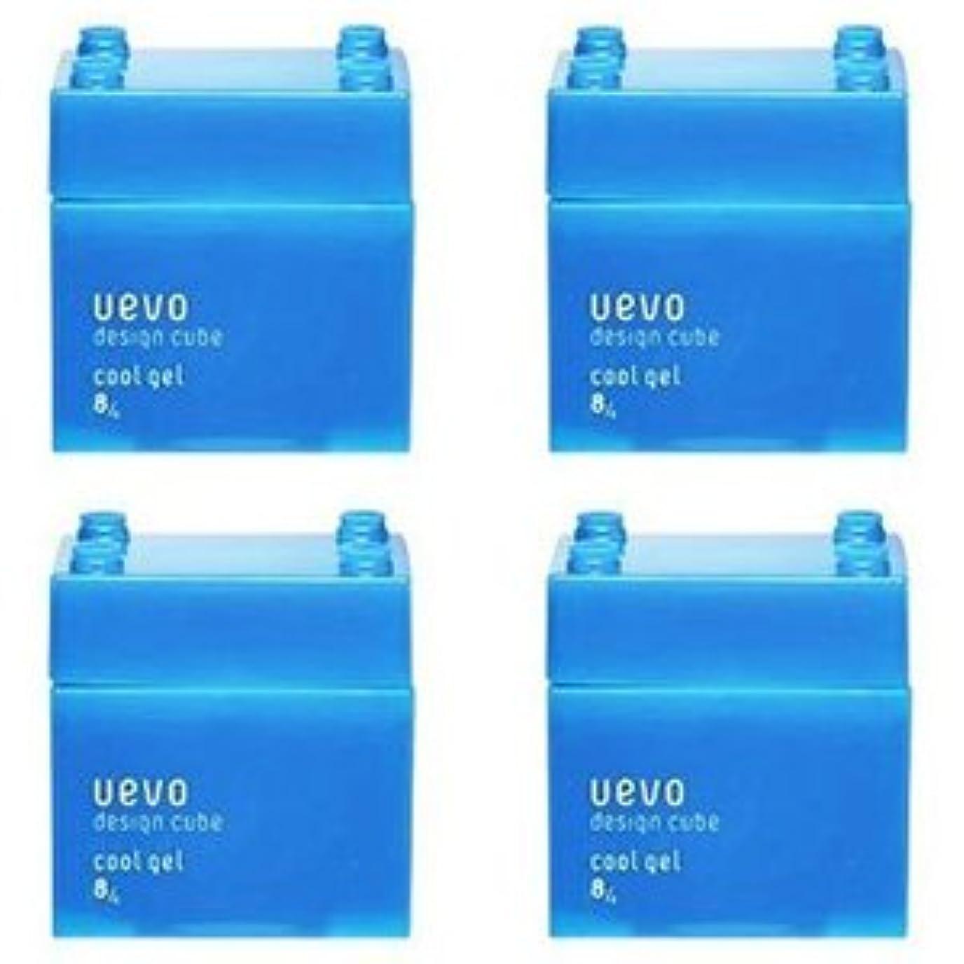 スカートモスク法王【X4個セット】 デミ ウェーボ デザインキューブ クールジェル 80g cool gel DEMI uevo design cube