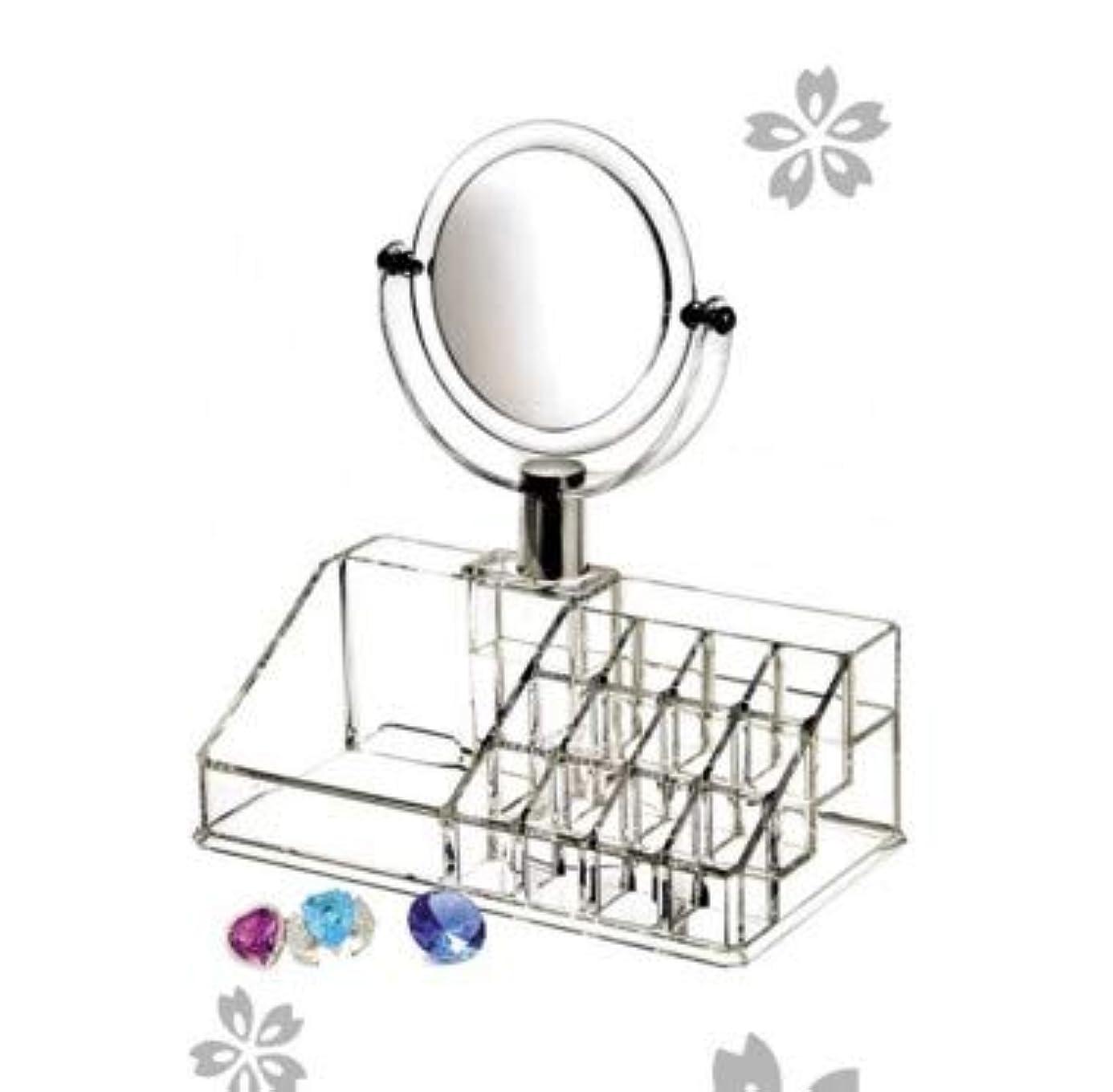 拍手去る魅力単層デスクトップ収納ボックス化粧品ケース透明化粧品収納ボックススキンケア収納ラック