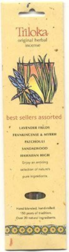 変更可能できたキャストTriloka Assorted Best Sellers Stick Incense – 10 Sticks