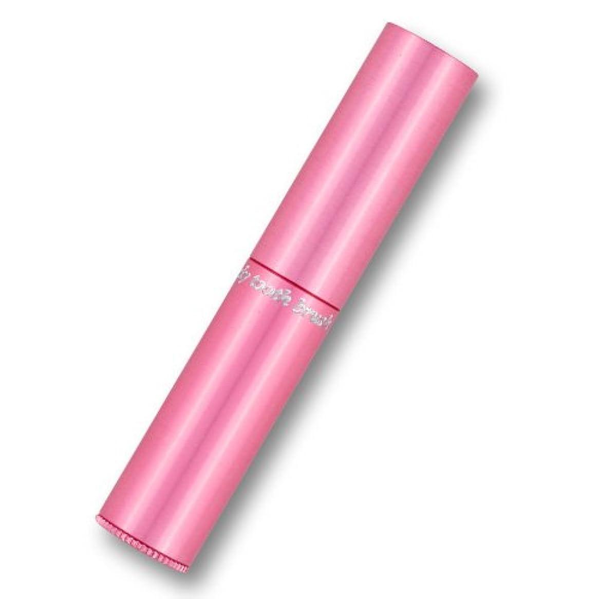 シリンダー耐えられる起きている携帯歯ブラシ?タベタラmigaCO(ピンク)