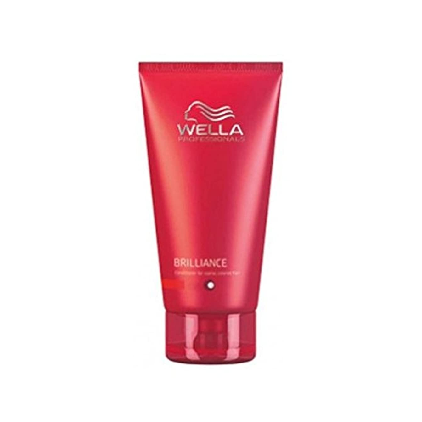 解き明かすキャンセルはずウェラの専門家が通常に細かいためのコンディショナーを輝き、色の髪(200ミリリットル) x4 - Wella Professionals Brilliance Conditioner For Fine To Normal...