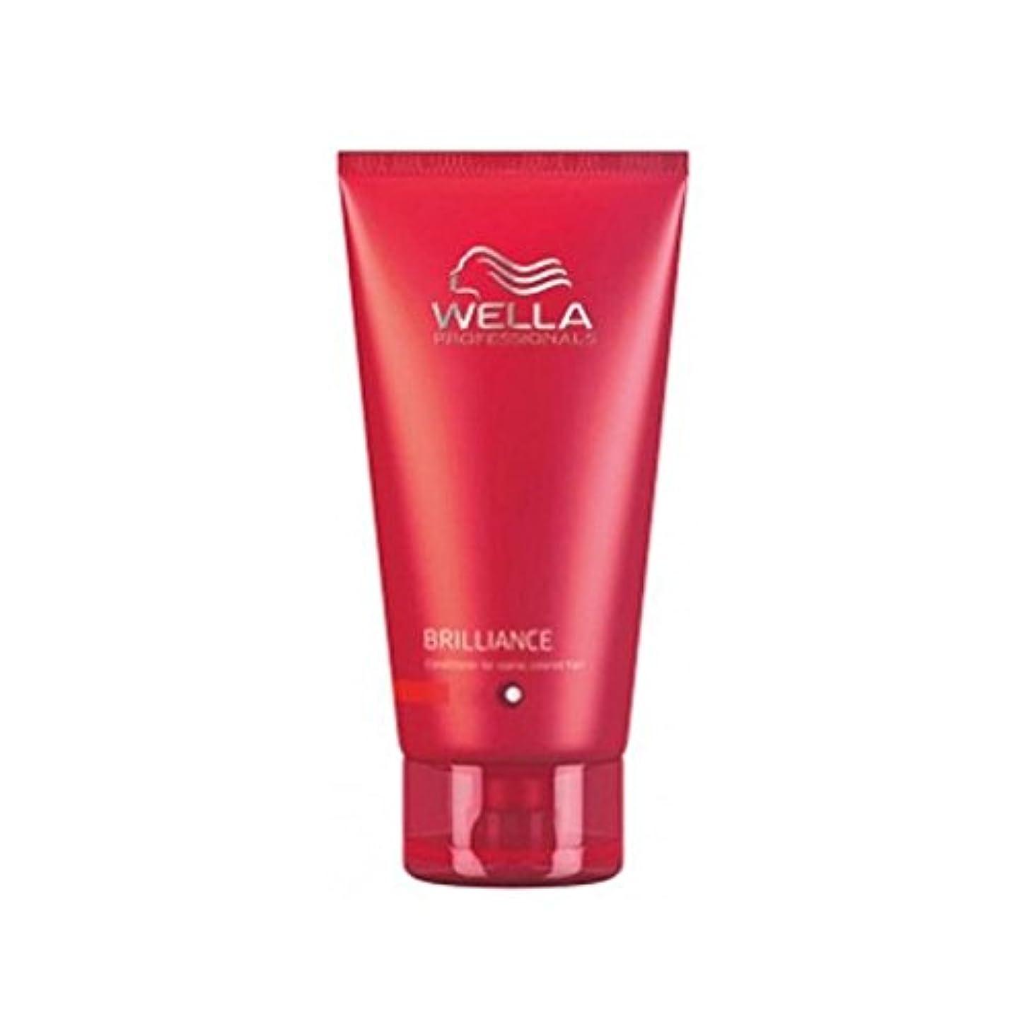 キャメル達成戦艦ウェラの専門家が通常に細かいためのコンディショナーを輝き、色の髪(200ミリリットル) x2 - Wella Professionals Brilliance Conditioner For Fine To Normal...