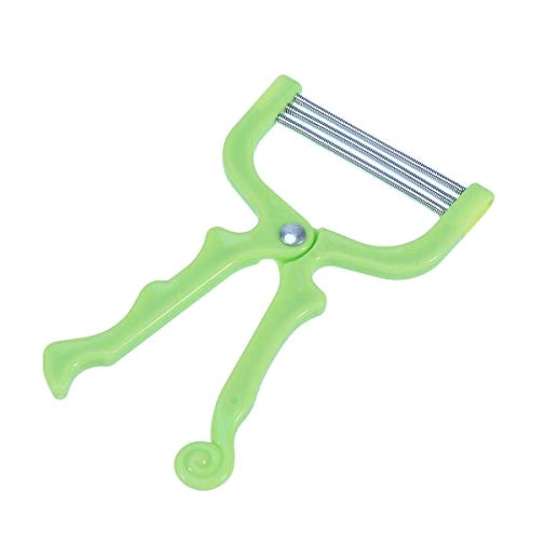 無効転用移民ROSENICE マニュアルフェイシャルヘアリムーバースプリングフェイシャルヘアスレーター除毛ツール(グリーン)