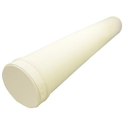 MRG 100cm ロング ヨガポール エクササイズマニュアル付き 最高級合皮 PUレザー カバータイプ (アイボリー)