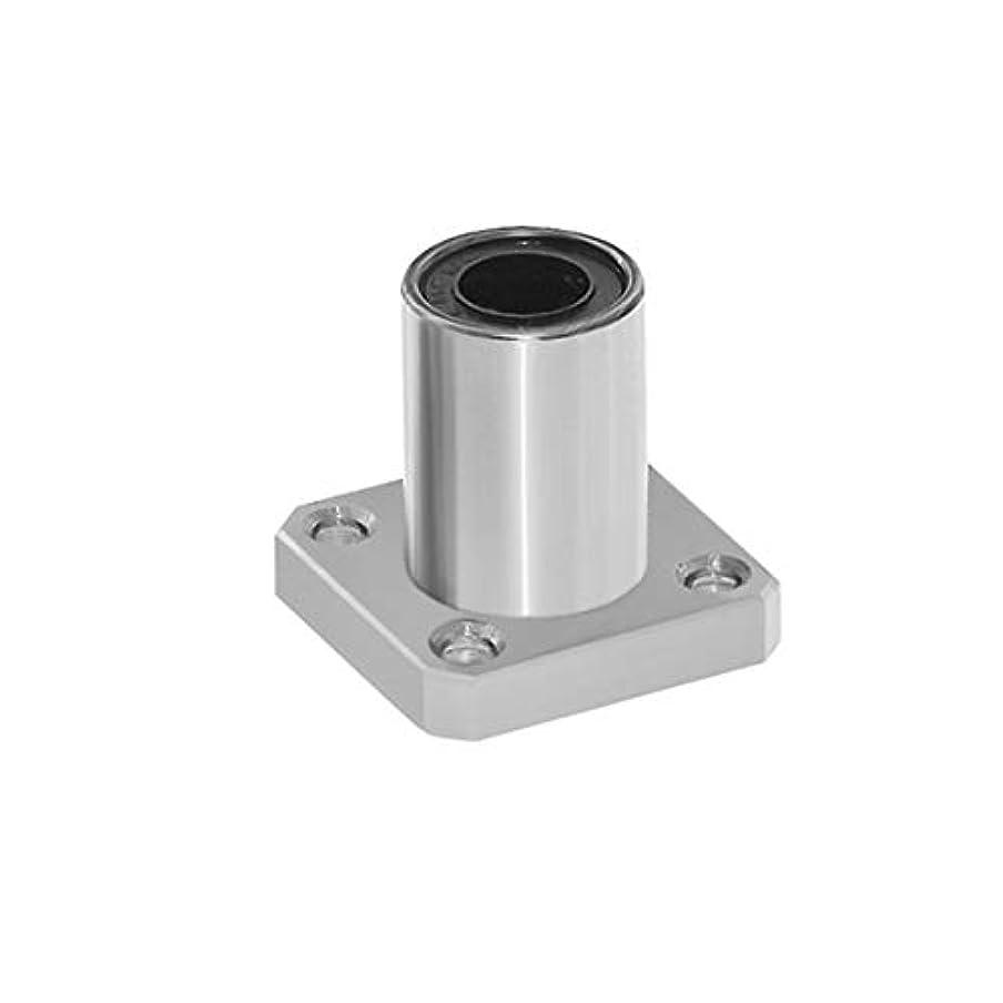感情連邦伝統的1PC LMK6UU dr:3Dプリンター用6mm角フランジタイプリニアベアリングブッシングリニアロッドスティック電動工具CNC部品-シルバー