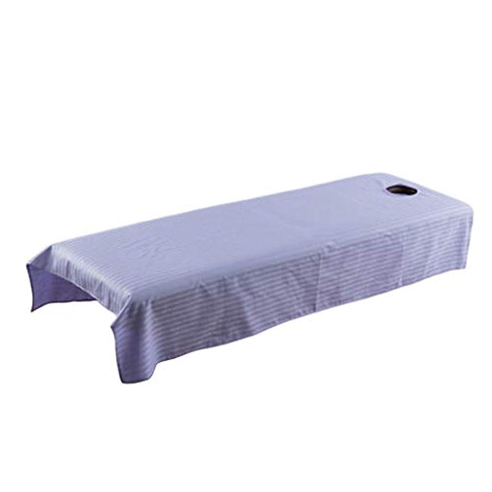 相談伝統吸収剤マッサージベッドカバー 有孔 スパベッドカバー マッサージテーブル シート 全5カラー - ライトパープル