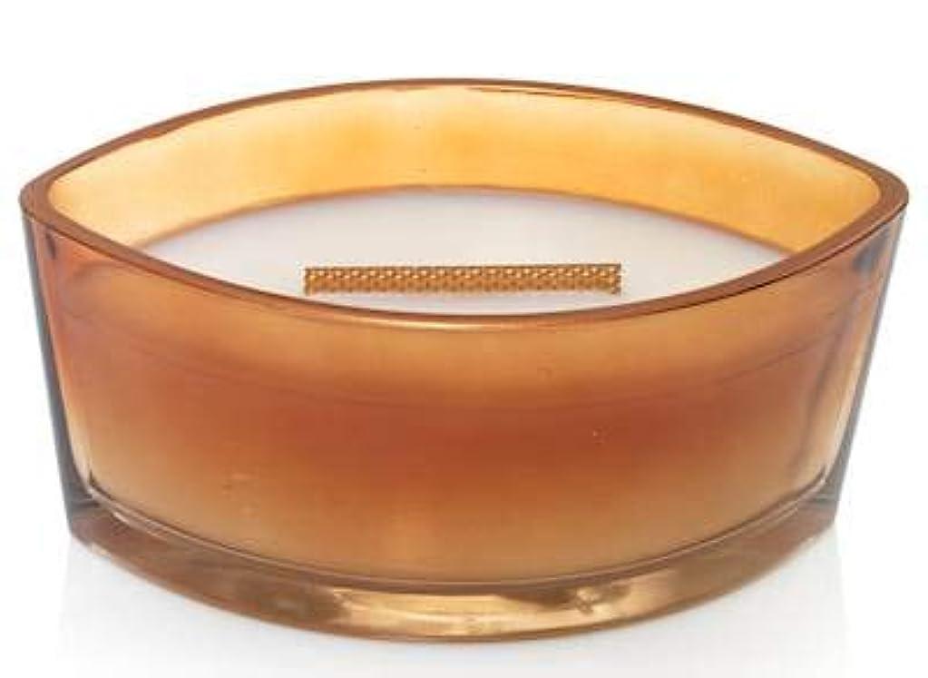 資源休眠手数料WoodWick パンプキンバターフォールクラシック装飾楕円ジャーキャンドル