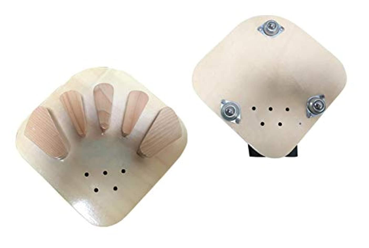 リダクターランタン泣いている木製指装具指板片麻痺脳卒中ハンドスプリントトレーニングサポート、キャスター付き、小