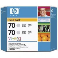 HP cb342a HP 70ライトグレーインクツインパック–Includes 2つ70ライトグレーインク