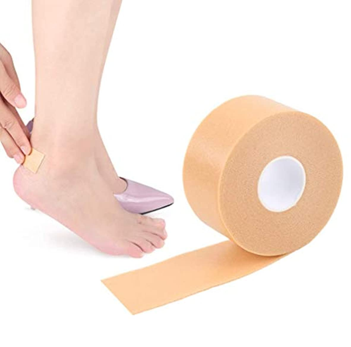 樫の木進捗人工的な靴ずれ予防テープ 靴擦れ防止 靴ズレ防止 かかと パッド フットヒールステッカーテープ 防水素材 足用保護パッド 足痛み軽減 耐摩耗 痛み緩和 滑り止め 粘着 かかとパッド テープ 通気 男女兼用 (1個入り)