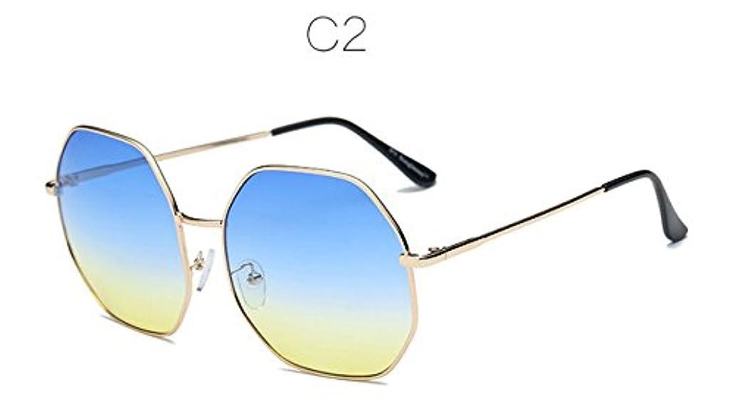 統計的お風呂を持っているニュージーランドRalias - ポリゴンのグラデーションカラーのサングラスの女性色の色合いレンズクリアレンズ眼鏡フレームのパイロットGafasデだから、UV400リュネット?ド?ソレイユ