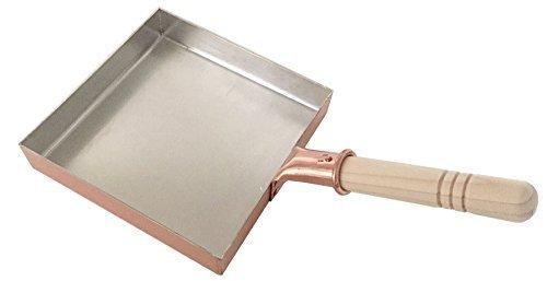 中村銅器製作所 銅製 玉子焼鍋 18角(18cm×18cm)プロ愛用の卵焼き器 卵焼き用フライパン 卵がふんわり まろやかに 日本製