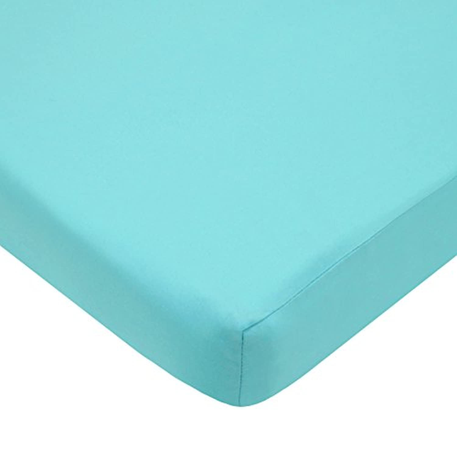 American Baby Company 100% Cotton Percale Fitted Portable/Mini Crib Sheet, Aqua by American Baby Company