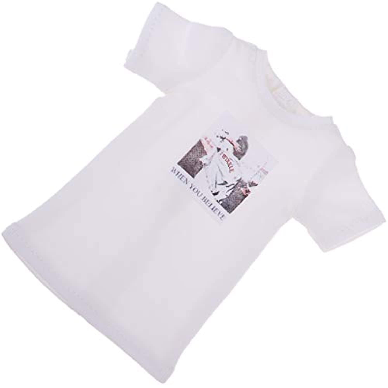 Baoblaze 1/6ブライスドール用 ドレスアップ アクセサリー ファッション Tシャツ 衣装 全3色 - ホワイト