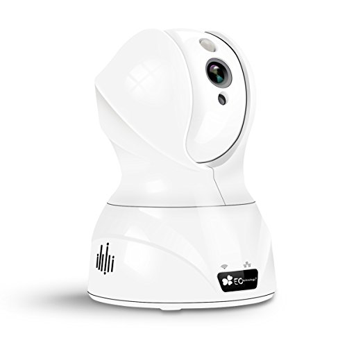 IP カメラ EC Technology 720P HD Wifi ホーム監視ネットワークカメラ ペット子供 見守りカメラ 暗視撮影 音声双方向機能 遠隔視聴 IOS/Android対応 ホワイト