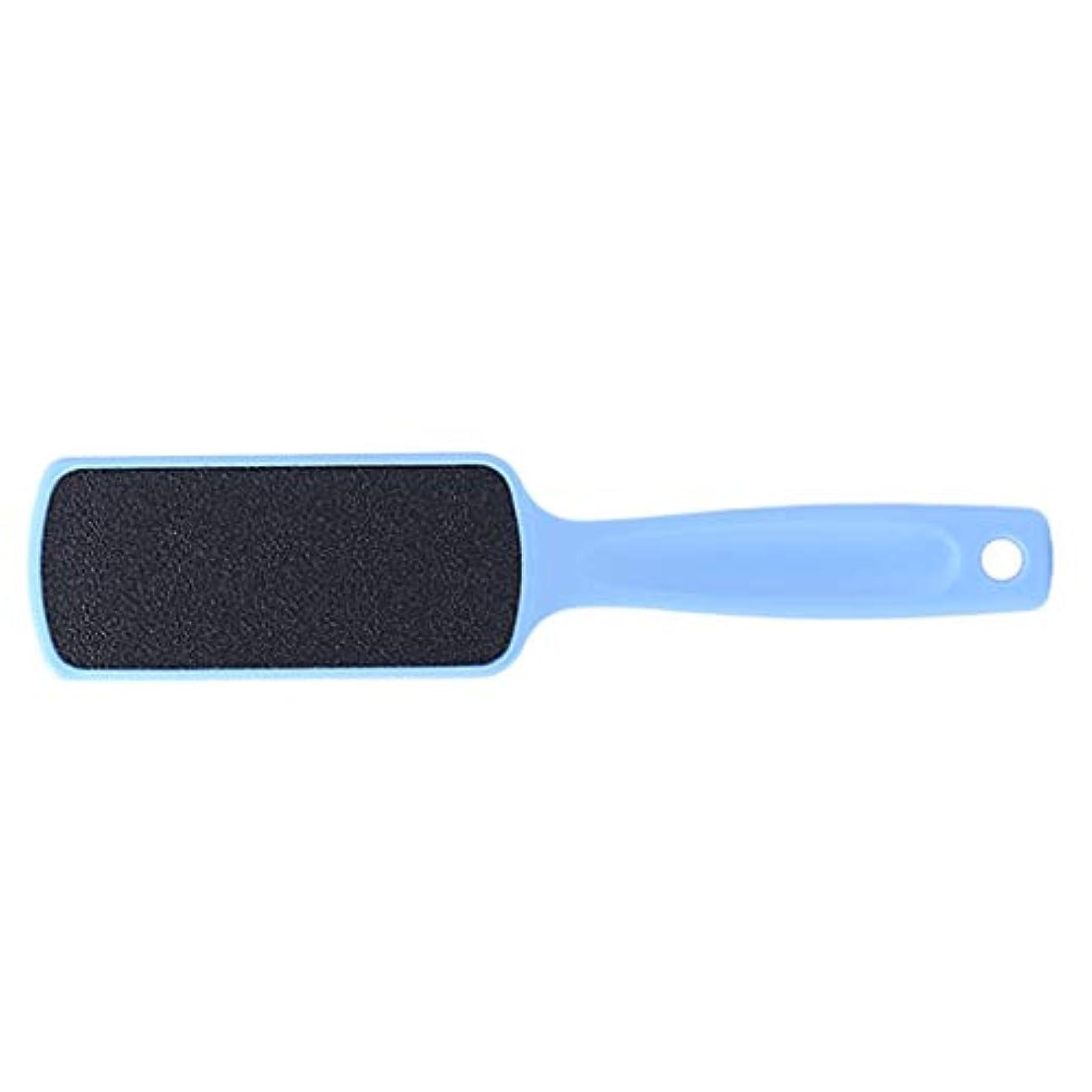 マトロン大統領学んだSM SunniMix フットファイル 足ファイル 角質除去 角質リムーバー 長いハンドル 滑り止め 全3色 - ライトブルー