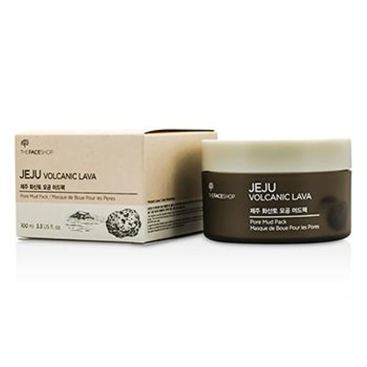 連帯用心深い振り向く[The Face Shop] Jeju Volcanic Lava Pore Mud Pack 100ml/3.3oz