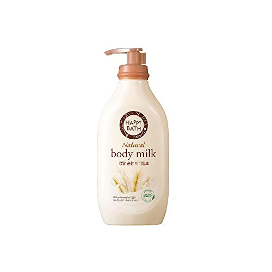 野心拡声器事業[HAPPY BATH] ハッピーバス ナチュラルボディミルク マイルドタイプ ボディローション 450ml (pure body milk 450ml)