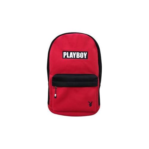 【数量限定】PLAY BOY クレイジーカラースエットリュック (red/black)