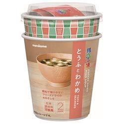 マルコメ カップ フリーズドライ 顆粒みそ汁 料亭の味 とうふとわかめ 12g×6個入×(2ケース)