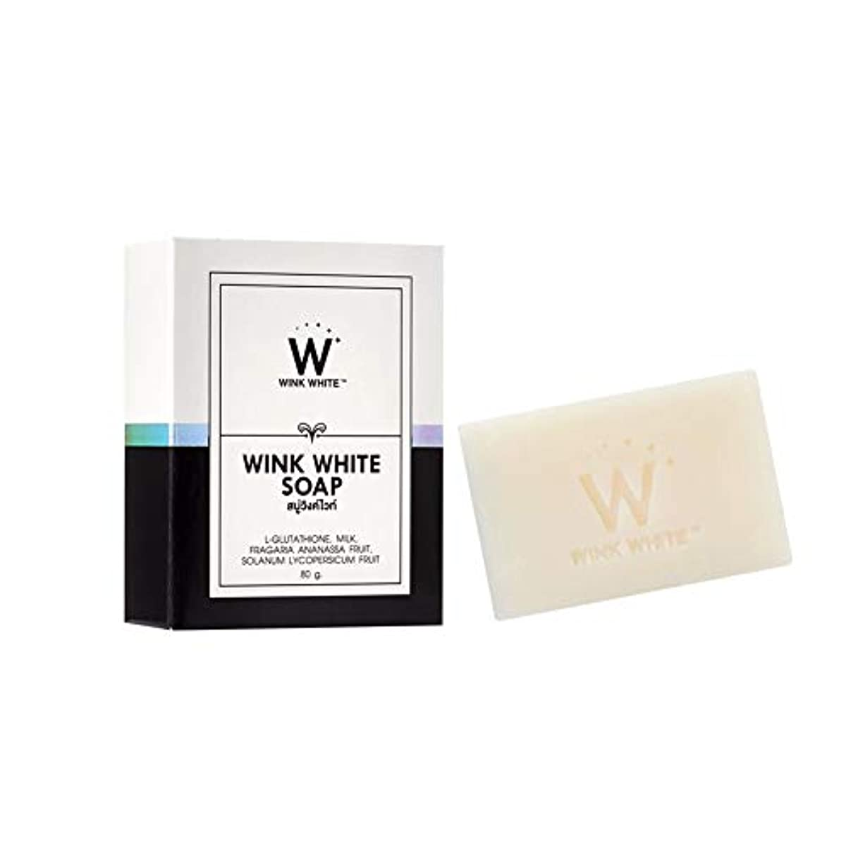 あいまいさ見て疲労Soap Net Nature White Soap Base Wink White Soap Gluta Pure Skin Body Whitening Strawberry for Whitening Skin All...