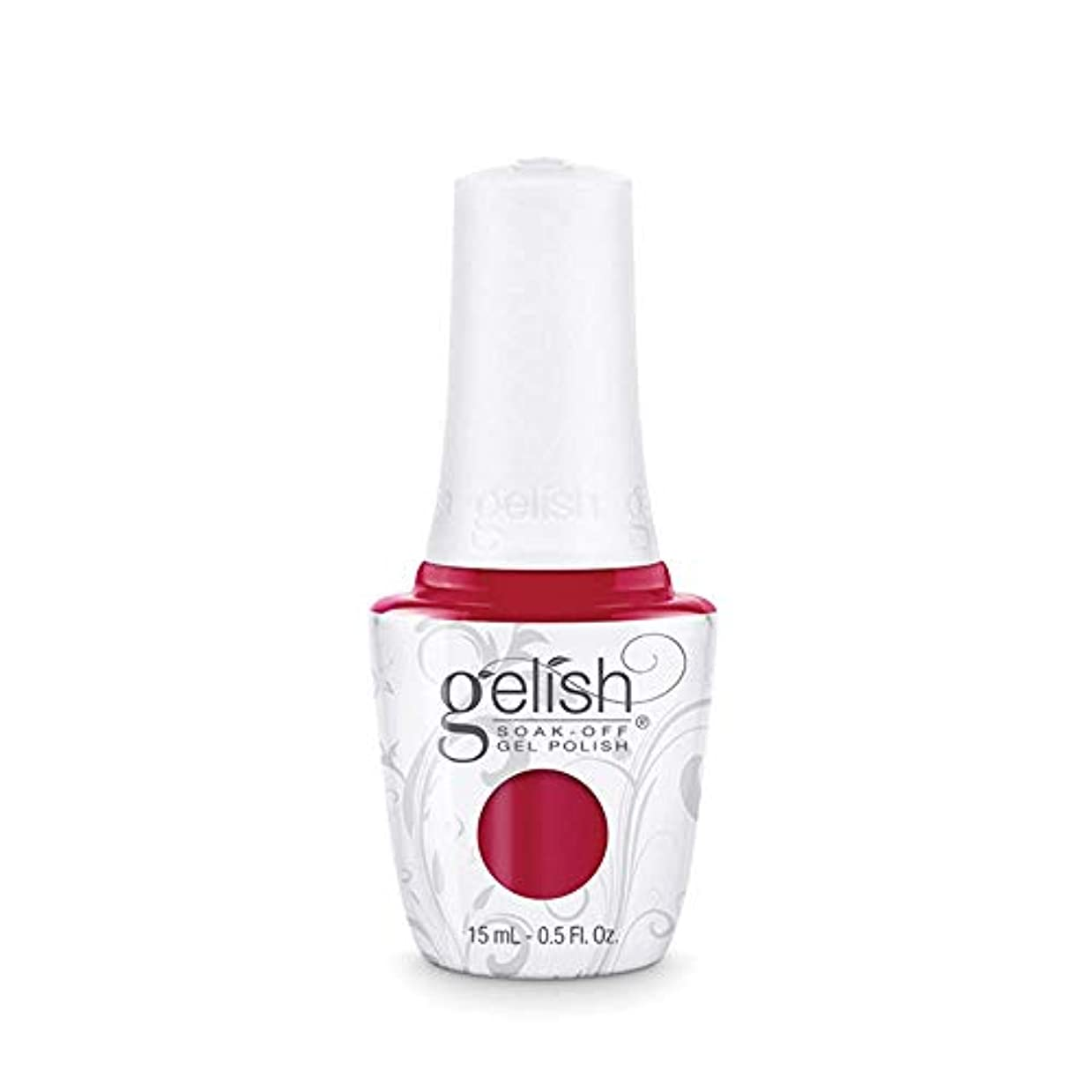 荒野事務所餌Harmony Gelish Gel Polish - Hot Rod Red - 0.5oz/15ml