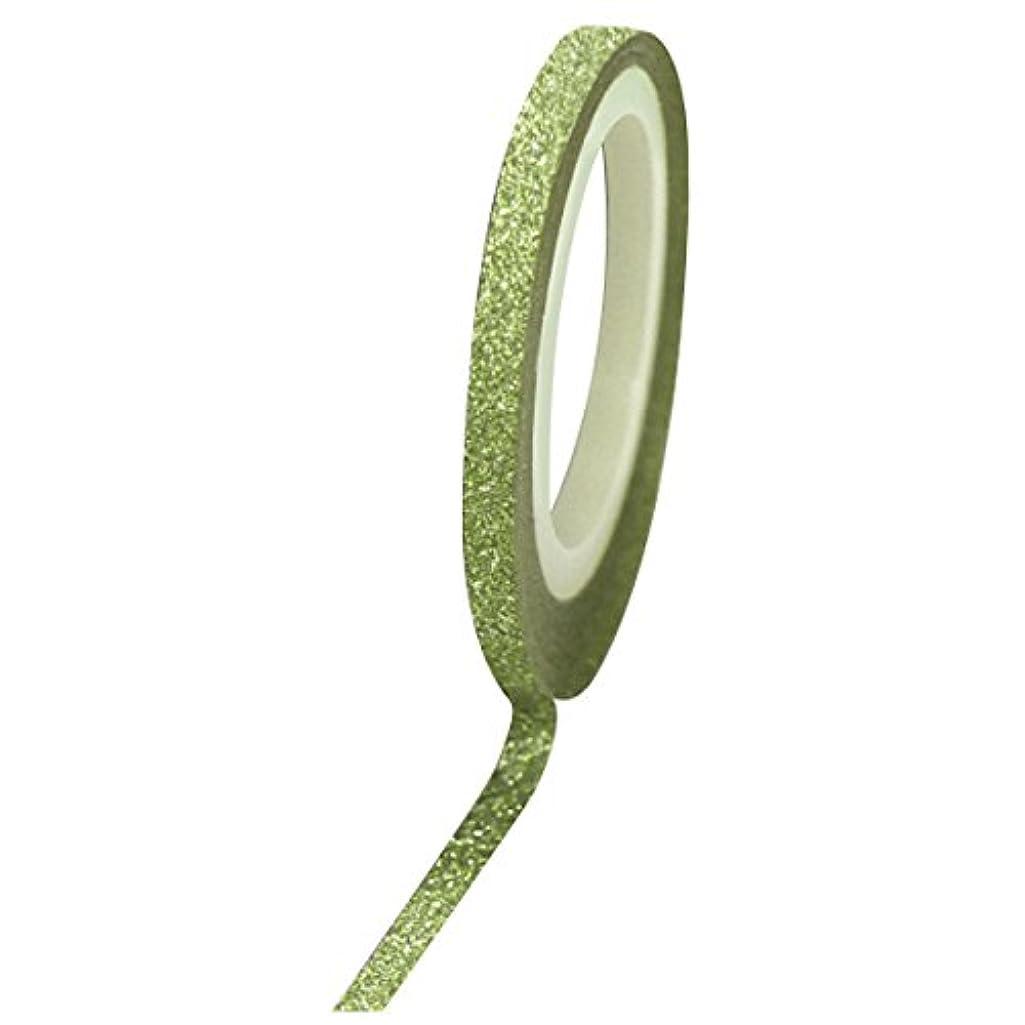 割り当て害虫優雅Bonnail グリッターラインテープ 3mm グリーンラメ