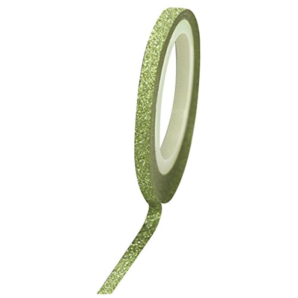 証言純粋に硬化するBonnail グリッターラインテープ 1mm グリーンラメ