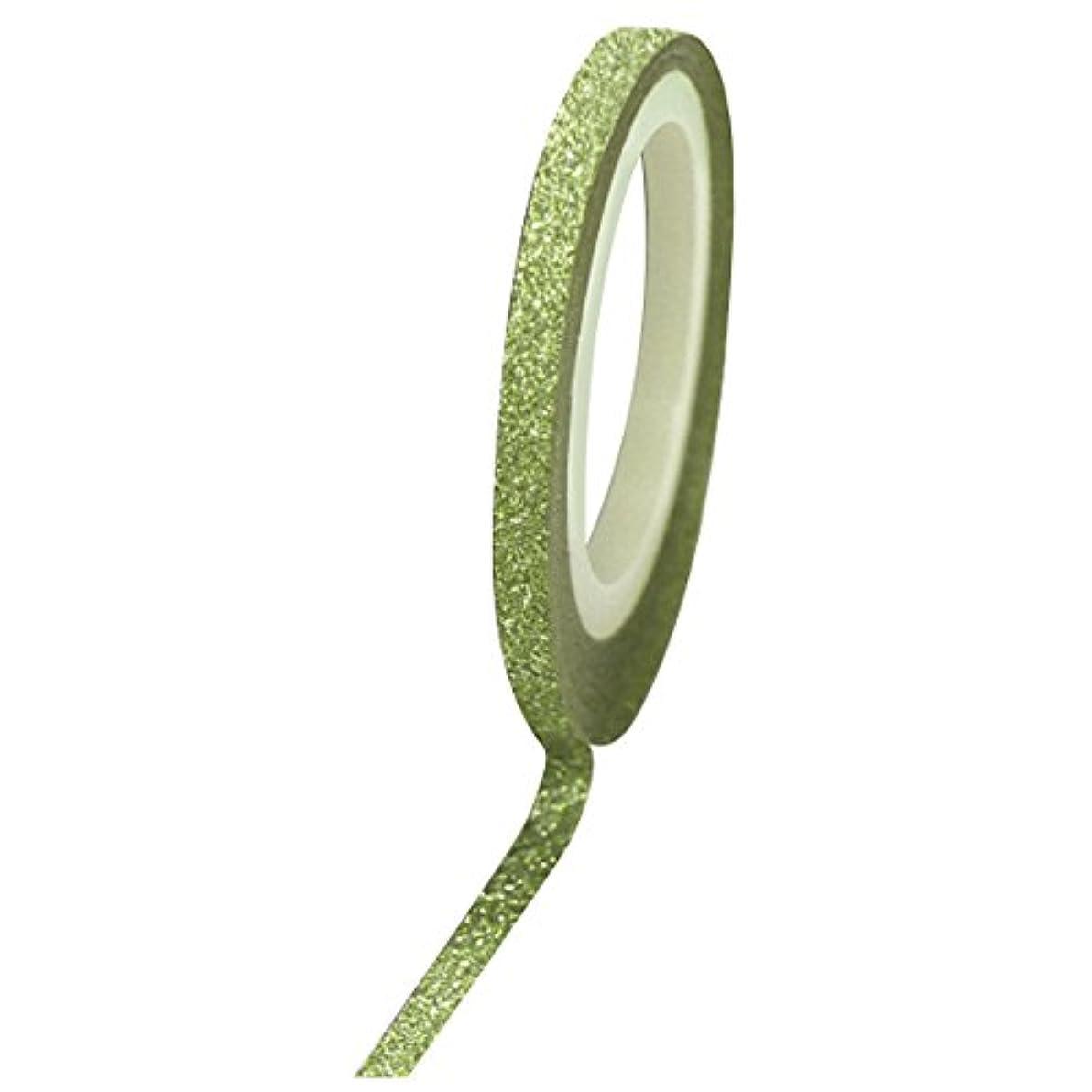 乳白幸福対話Bonnail グリッターラインテープ 3mm グリーンラメ