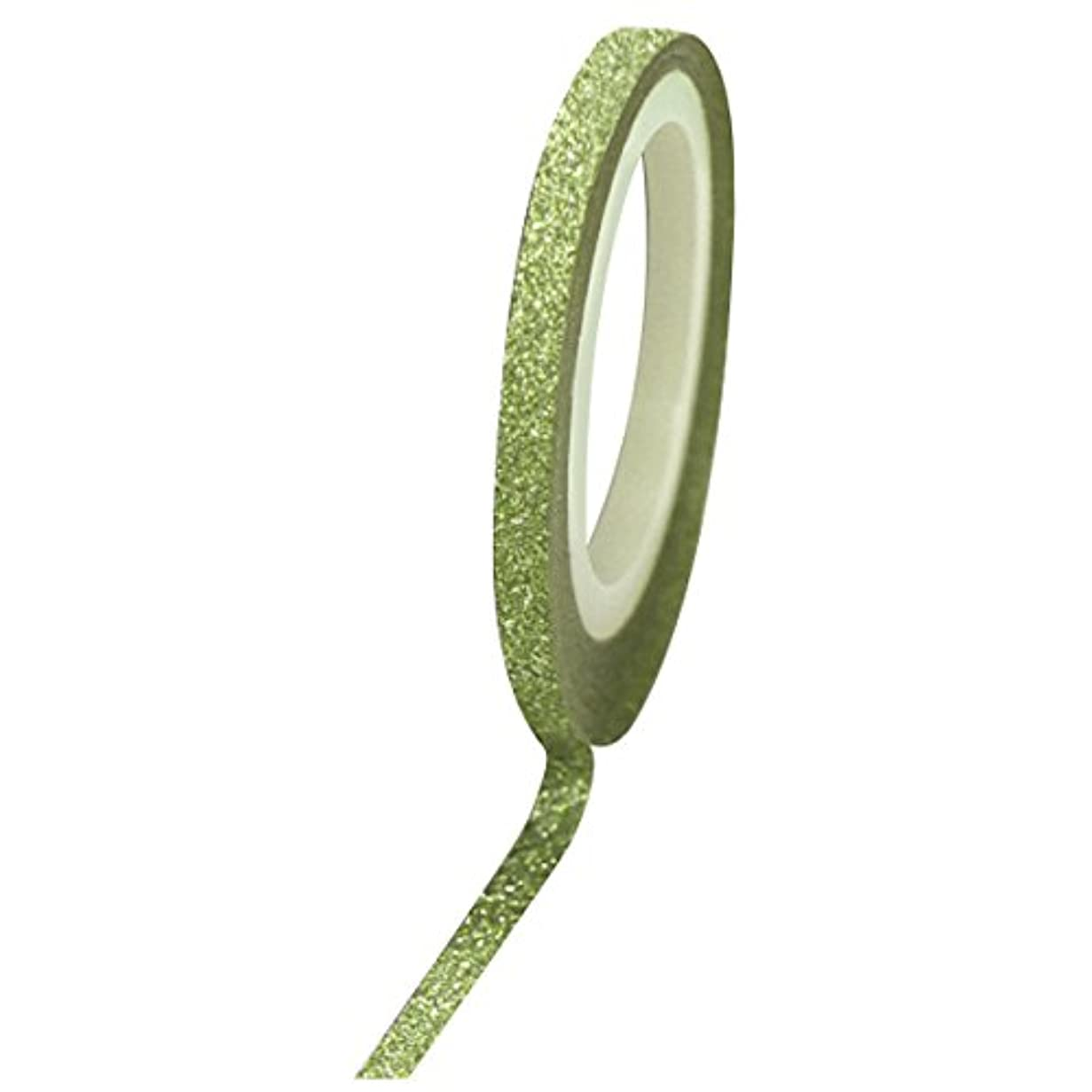 消化器休眠市場Bonnail グリッターラインテープ 3mm グリーンラメ