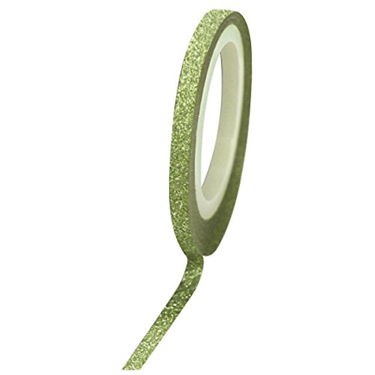 の慈悲で虫スリラーBonnail グリッターラインテープ 1mm グリーンラメ