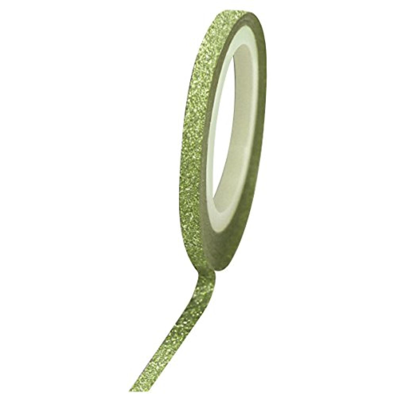 多年生助けになるパイBonnail グリッターラインテープ 1mm グリーンラメ